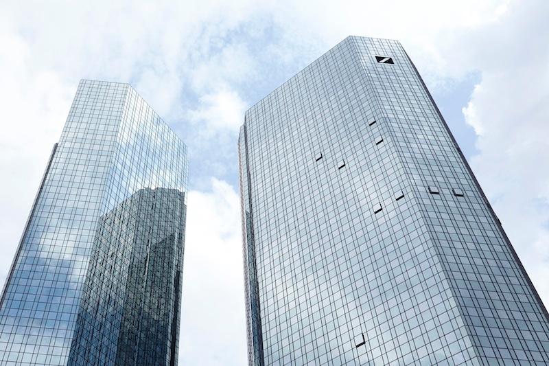 改装後のドイツ銀行本社ビルの外観(写真:ドイツ銀行)