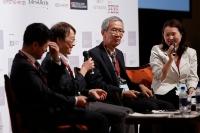 J-REITセッションの様子。司会はS&Pの井澤朗子 主席アナリスト(写真:PERE)