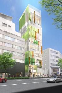 神宮前6丁目プロジェクト(仮称)のパース(資料:東急不動産)