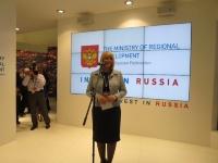 ロシア連邦地方開発省副大臣 スレトラーナ・イヴァノヴァ氏