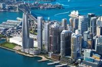 One Sydney Harbourの完成予想図。左から2棟目がOne Sydney Harbour Residences One(資料:三菱地所)